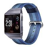 Die besten Fitbit Angebote - Pugo Top Fitbit Ionic Ersatz-Armband, gewebtes Sport-Nylonband, mit Bewertungen
