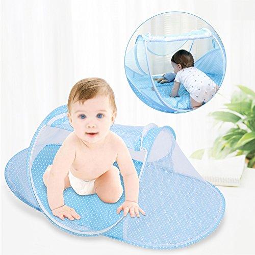 CANDORA Baby LETTO PORTATILE pieghevole da viaggio culla per 0-2 ANNI Bambino baldacchino.