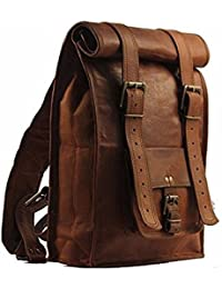 Anshika International Original Leather Bagpacks For Men/Women/Unisex With Front Pocket, Well Stiched, Padded Shoulder...