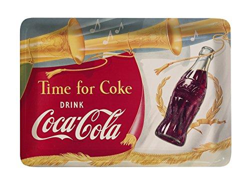 Platex 93111410927 Coca-Cola Plateau-Vide Poche Petit Décor Trompet Mélamine 14 x 10 x 1 cm