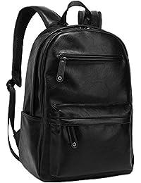 ZeleToile® PU-08 Sac à dos cartable scolaire unisexe en cuir PU Sac à dos de PC 13-15 pouces / Sac à dos de voyage / Sac d'école / Sac à dos scolaire - Noir