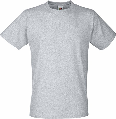 Fitted Valueweight T | Figurbetontes T-Shirt graumeliert