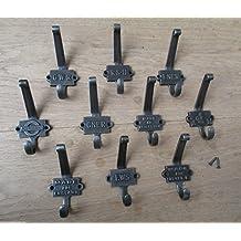 Ironmongery World® de hierro fundido Vintage estilo abrigo ganchos Perchero Junta accesorio de ganchos para