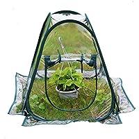 Mini serra in PVC trasparente, pop-up, per riparare i fiori in casa, in vaso, in giardino, dimensioni 70 x 70 x 80 cm.