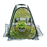PVC-Blumenhaus, Blumentopf-Abdeckung, Gartenblumen-Schutz, 70 x 70 x 80 cm