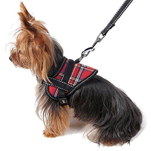 DealMux reflectante cachorro perro correo arnés ajustable