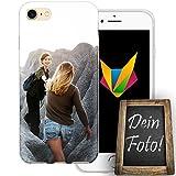 dessana Beste Freundin Handyhülle Personalisiertes Geschenk dünne Silikon TPU Case Eigenes Foto Motiv für Apple iPhone 7 Ohne Text