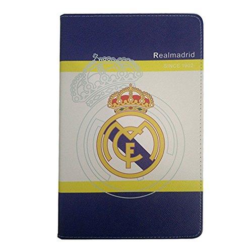 Galaxy Tab E 9,6 Fundas, Real Madrid Barcelona Chelsea Liverpool Arsenal Fútbol Équipe Voltear Cuero De la PU Funda para Samsung Galaxy Tab E 9,6 pulgadas SM-T560 / SM-T561 / SM-T565 (Galaxy Tab E 9,6 pulgadas SM-T560, Real Madrid)