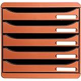 Exacompta 309788D - Caja organizadora, 5 cajones, color naranja