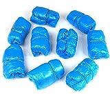 100 Stück dünn Einmal Kunststoff Schuhüberzieher blau Einweg überziehschuhe Schuhüberzug
