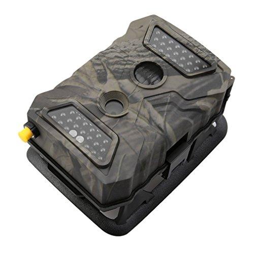 Poncherish Wildkamera Jagdkamera S680 Wild Vision Full HD 5.0 12.0 MP TFT LCD Farbdisplay GPRS SMS/ 940nm / 40 LED / 32 GB / Mini-USB TV-Ausgang /Interpolation
