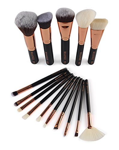 Pinceaux Maquillage, Makeup brushes set,TOPBeauty 15Pcs Maquillage Outils Brush Set Maquillage Trousse De Toilette Laine Maquillage Brush Set