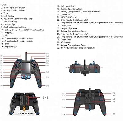 LITEBEE Flysky NV14 Nirvana 2.4GHz 14CH Transmitter Flysky AFHDS 2A RC Transmitter TX FS-X8B / FS-iA8X Receiver, RC Transmitter RC Receiver FPV Racing Drone Quadcopter RC Cars