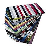 casa pura Design Badematte | Rutschfester Badvorleger | viele Größen | zum Set kombinierbar | Öko-Tex 100 Zertifiziert | viele Muster zur Auswahl | Gestreift - Rot (60 x 100 cm)