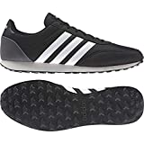 ADIDAS V Racer 2.0, Zapatillas para Hombre, Negro (Core Black/Solar Red/Footwear White), 45 1/3 EU