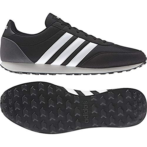 ADIDAS V Racer 2.0, Zapatillas para Hombre, Negro (Core Black/Solar Red/Footwear White), 46 2/3 EU