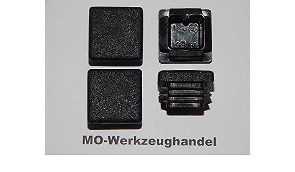 Lamellenstopfen Endkappen f/ür Quadratrohr 16 St/ück Vierkant Rohrstopfen 25 x 25 mm Farbe: Schwarz aus Kunststoff Schwarz 25x25 mm