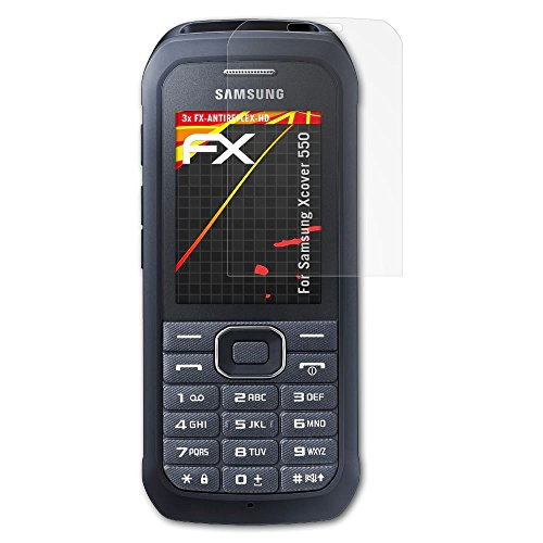 atFolix Schutzfolie kompatibel mit Samsung Xcover 550 Bildschirmschutzfolie, HD-Entspiegelung FX Folie (3X)