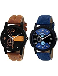 Men's And Boy's Analogue Multi-Colour Dial Set Of Two Combo Watch Made In India