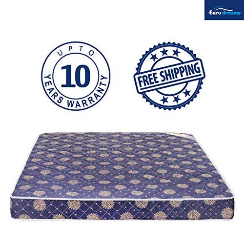Euro Dreams Eurofit 4-inch Single Size Bonded Foam Mattress (Blue, 72x30x4) Image 4