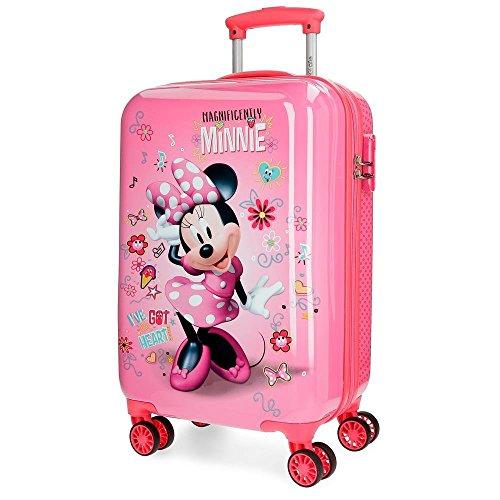 Disney Stickers Valigia per bambini, 55 cm, 32 liters, Rosa