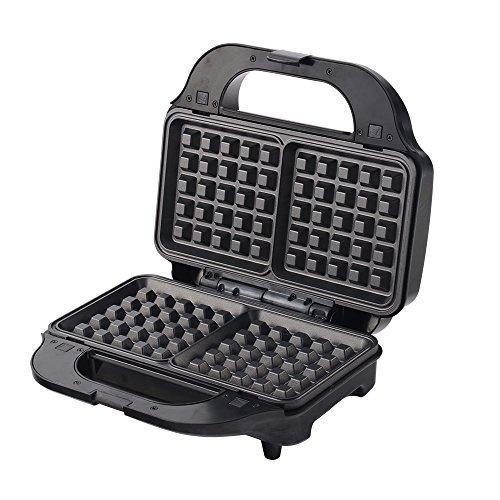 Wonderchef Prato 63152644 830-Watt 3 in 1 Sandwich Maker (Black)