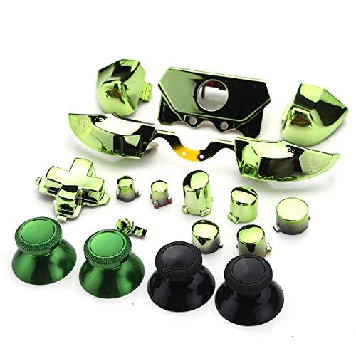 GOZAR Stoßstangen Trigger Tasten Dpad Lb Rb Lt Rtfür Xbox One Elite Controller - Grün (Taste Teppich)