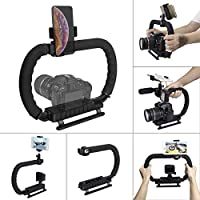 Hydra Stabilizer Handheld Camera Stabilizer DC+DV 2-Hand Holder Camera Steadycam Mount Hand Grip Shooting Rig Compatible…