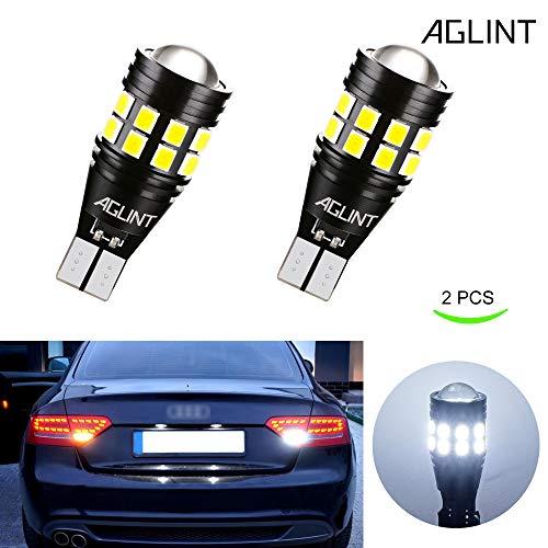 AGLINT 2X T15 W16W LED Lampadina CANBUS Nessuna Polarità 3030 22SMD Estremamente Luminoso Auto Luce di Retromarcia Freno Parcheggio Luci Frenatura Lampadine Senza Errori T16 921 912 Bianco