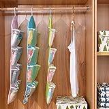 biyi5255 16 Taschen löschen über Tür-hängende Beutel Aufhänger Lagerung Tidy Organizer Für Privatanwender(Farbe:Rosa)
