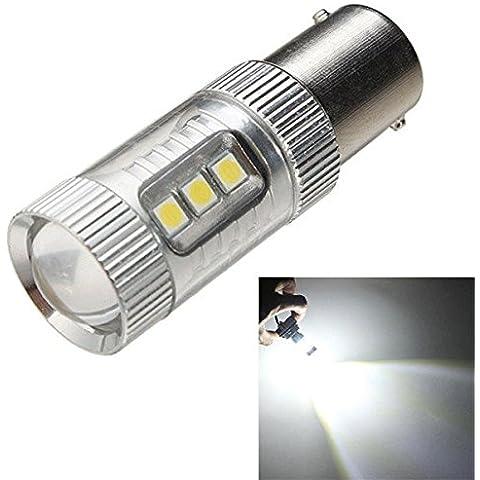 Moppi 3030 / ba15s 16smd LED auto bianca passando invertire freno lampadina dc 10-30v