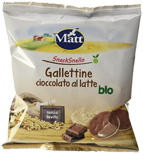 Matt Snacksnello Gallettine Cioccolato al Latte Bio - 30 gr - Glutine Cioccolato
