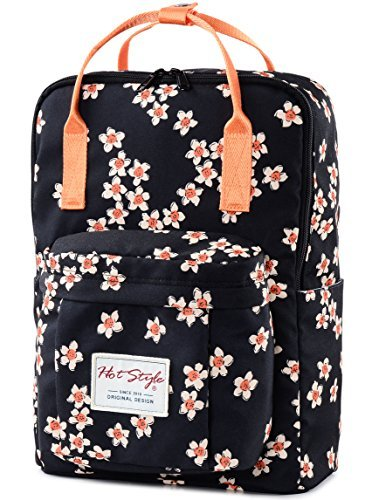 Hotstyle bestie zaino 18l - daypack floral impermeabile per laptop 14