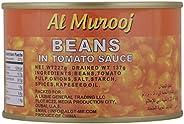 Al Murooj Beans in Tomato Sauce, 227 gm (Pack of 1)