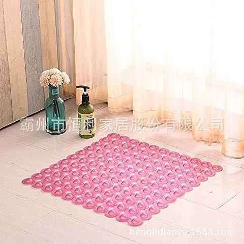Bagno con base antiscivolo in plastica pvc bagno zerbino i piedini antiscivolo doccia massaggio Mats , piazza rosa trasparente ,50cm*50cm