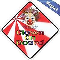 12,7x 12,7cm clown on Board vinile paraurti magneti decalcomanie magnetico magnete adesivo