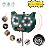 SOSENSH di Solar Animal Repeller con sensore di movimento PIR,16 LED lampeggiante,impermeabile Design-5 file Regolabile,a pagamento Predator Deterrent Light Alarm spaventa animali nocivi notturni Away