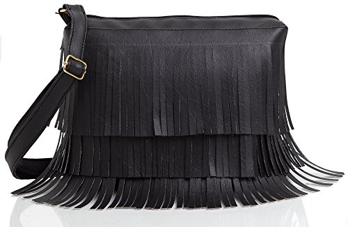 Mammon Women's Crossbody Bag - Black, Sidebelt-blk