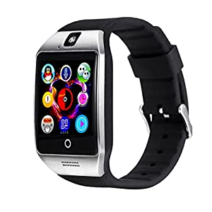 Bluetooth SmartWatch,Beafup Smart watch Touch Screen Bluetooth WristWatch /SIM Card Slot/Sleep Monitoring for Android IOS (Partial Functions)
