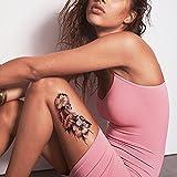 TAFLY Schwarze Blume Tattoo Realistisch Körper Temporäre Tattoo Aufkleber Für...