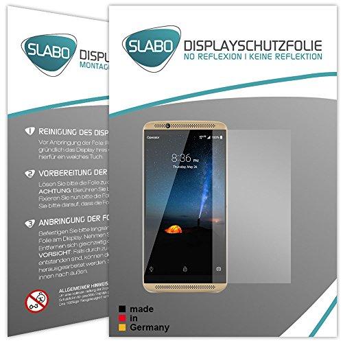 2 x Slabo Bildschirmfolie für ZTE Axon 7 Bildschirmschutzfolie Zubehör (verkleinerte Folien, aufgr& der Wölbung des Bildschirms)