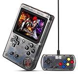 MEEPHONG Consola De Juegos Portátil, Salida De TV Retro FC Plus Joystick Adicional NES Consola De Juegos Clásica Incorporada 168 Videojuegos Portátiles (Negro Transparente)