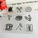ECMQS Sewing Elements DIY Transparente Briefmarke, Silikon Stempel Set, Clear Stamps, Schneiden Schablonen, Bastelei Scrapbooking-Werkzeug