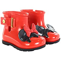 MINI MELISSA - Red rain boot, made in Brazil, completely made of MELFLEX plastic, Child, Children, Girl, Girls-8 Child UK