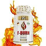 MVN F-BURN Extrem | Vegan | Hochdosiert | Glucomannan, L-Carnitin, Himbeer Ketone, Garcinia Cambogia, grüner Kaffee, weißer Tee