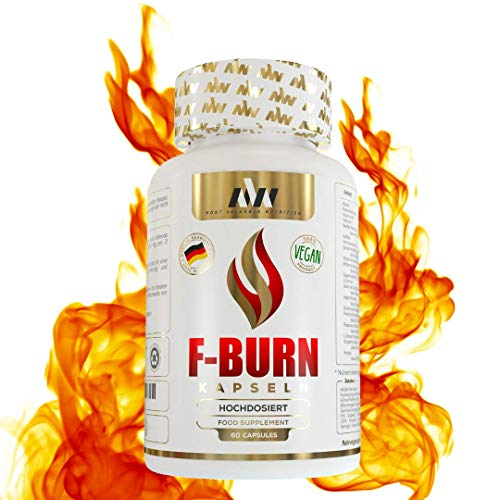 MVN® F-BURN Extrem Fatburner Kapseln, 100{6d4bb52e6ce3cb5b53275435fe78b0866ba33218d22a6f5b69b2fb538b4d64e2} natürlich, optimiert von Experten, Made in Germany