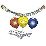 21-teiliges Deko-Set * BOB DER BAUMEISTER* für Kindergeburtstag // 48397 // Kinder Geburtstag Party Deko Bauarbeiter Builder Worker