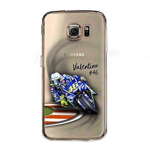 S6 Cover TPU Gel Trasparente Morbida Custodia Protettiva, MotoGP Collection, Valentino Rossi, Galaxy S6