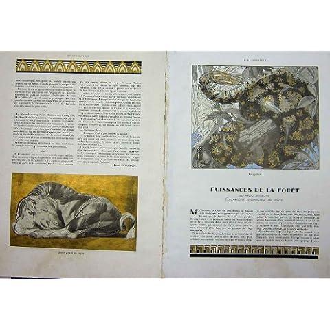 Impresión del Vintage de los Reinos Animales Del Francés de la Selva 1930