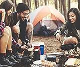 Outdoro Campingbesteck und Reisebesteck aus Edelstahl mit Neopren-Bestecktasche - Ideales Besteckset für Outdoor und Reisen (blau) -